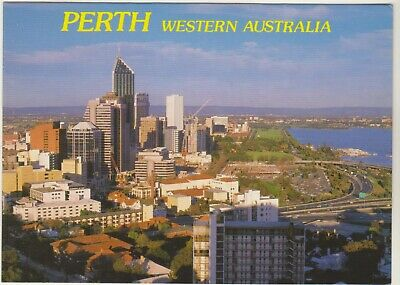 From Legacy Lookout Perth Western Australia Nucolorvue Postcard