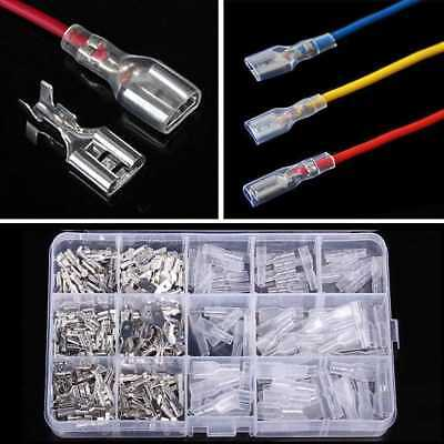 270pcs Assorted Insulated Electrical Wire Terminals Crimp Connectors Spade Verka
