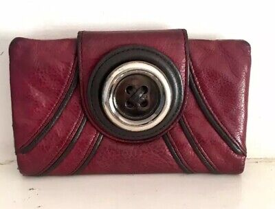Mimco Button Wallet In Burgundy