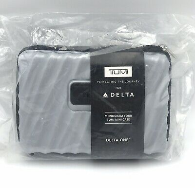 TUMI Delta First Class Mini Luggage Travel HARD CASE Amenity Kit ~Business One~