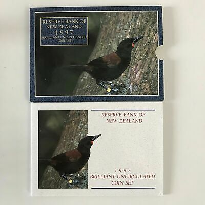 1997 New Zealand Brilliant UNC Set with Annual Saddleback Coin