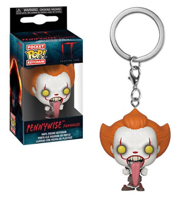 Funko Pocket Pop! It: Chapter 2 Pennywise Funhouse Key Chain in hand