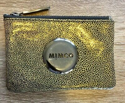 Mimco Mini Coin Pouch In Black/ Yellow Print