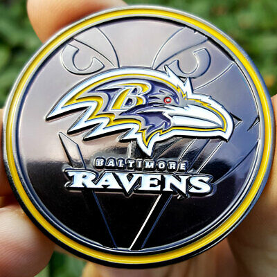 PREMIUM NFL Baltimore Ravens Poker Card Guard Chip Protector Golf Marker Coin
