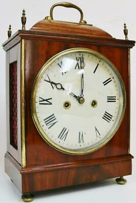 Antique English Regency 8 Day Twin Fusee Bell Striking Caddie Top Bracket Clock