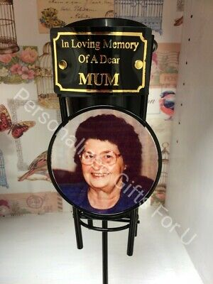 Memorial Spike Flower Vase -Photo Plaque Vase For Grave personalised Baby
