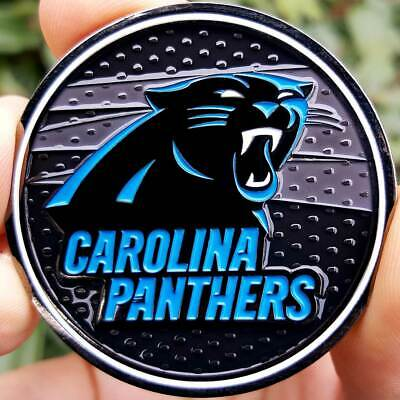 PREMIUM NFL Carolina Panthers Poker Card Guard Chip Protector Golf Marker Coin