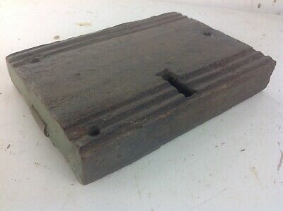 Antique wood cased steel door rim lock old reclaimed