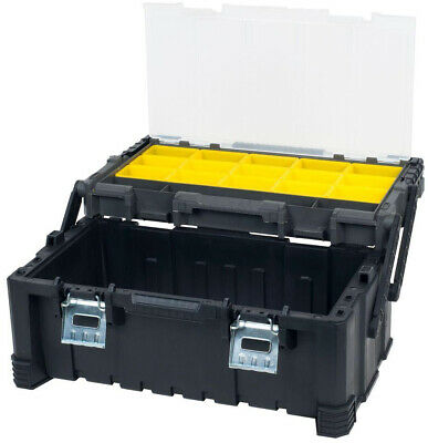 Stalwart 22 inch Tool Small Parts Compartment Box Storage Organizer Cantilever