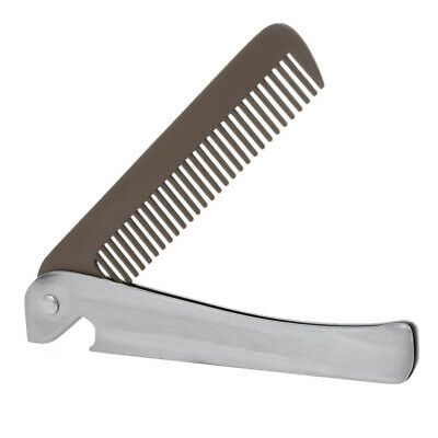 Stainless Steel Hair Beard Comb Pro Hairdressing Mustache Comb Anti-Static H1Q2