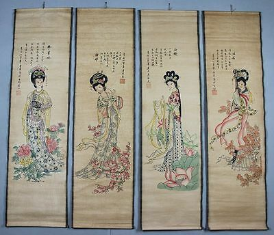 4PCS sitting room Adornment of ancient Chinese calligraphy and painting works sl