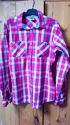 Ladies red check Lee Cooper shirt ,size 14 ,good condition