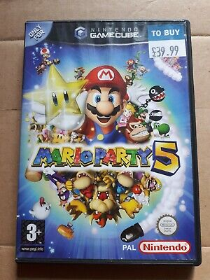 mario party 5 empty box only NO DISC OR MANUAL nintendo gamecube pal CASE ONLY