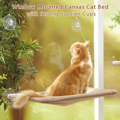 Cat Window Perch Hammock Window Mounted Cat Bed Cooling Breathable Canvas D4Z7