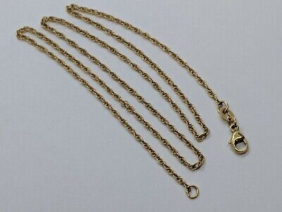 "18"" James Avery 14k Yellow Gold Light 1.6 mm Rope Chain Necklace FREE SHIPPING"