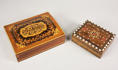 Deux boîtes de Syrie en marqueterie - Two boxes of Syria in marquetry