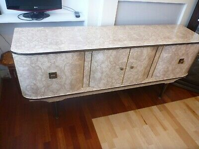 STONEHILL FURNITURE Mid Century Vintage Sideboard + Matching Table with 4 chairs