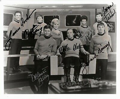 Star Trek Autographed by Roddenberry and All Eight