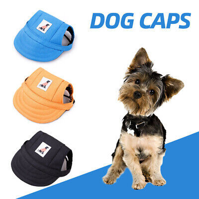 Dog Caps Pet Sport Hat w/ Ear Holes Adjustable Buckle Pet Baseball Visor O1U2