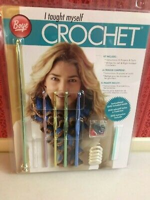 New Boye: I Taught Myself Crochet Kit Christmas Holiday Xmas Gift Brand New