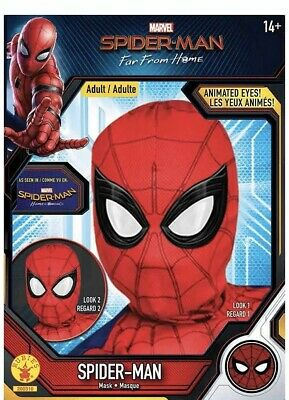Adult Spider-Man: Far From Home Deluxe Lenticular Fabric Mask Peter Parker MCU