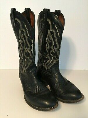 179a5356813 VINTAGE EXOTIC LEATHER Cowboy Boots Mens Western Boots Ostrich Size ...