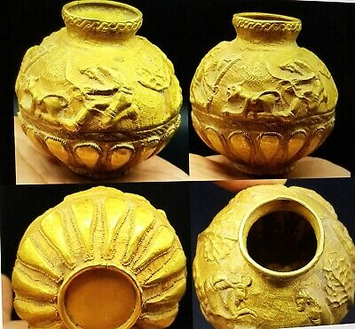Extremely Rare Solid Gold Pot Parthain Hamden Achamend Dynasty 530/330BC Persia