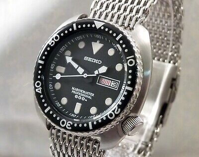 Seiko Turtle MarineMaster 600 Ceramic Shark-Mesh Automatic Diver Watch 6309-7040
