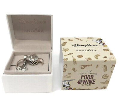 PANDORA Disney Parks Charm Set - 2018 Epcot Food and Wine Festival NEW IN BOX
