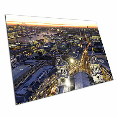 Poster print City of London skyline at night wall Poster Art prints A1 Poster