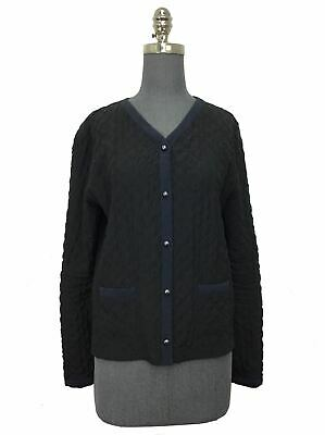 Chanel 15B Quilted Cardigan Jacket Size M