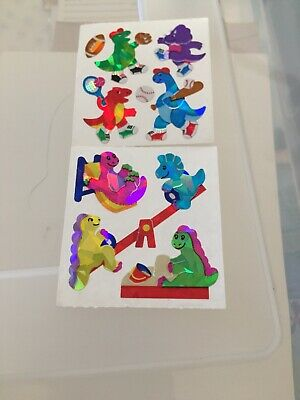 Sandylion Stickers 80s Vtg Dinosaur Sports Playground Lot Prismatic