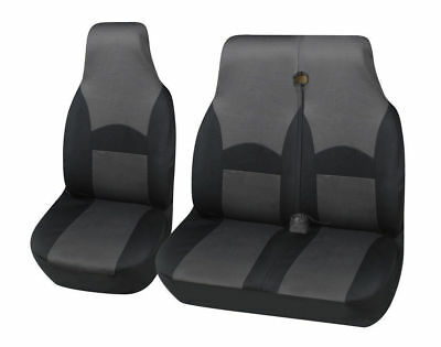 Ford Transit (Mk6) - Deluxe Grey/Black Van Seat Covers Single + Double 2+1