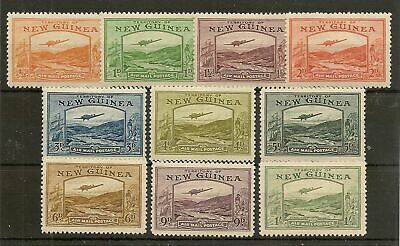 New Guinea 1939 Kgvi Airs To 1/- Sg212/221 Mint