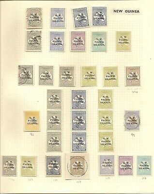 New Guinea 1915-22 Nwpi Roo's Mint, Vals To 5/-, 2/- Inv Wmk, Strips, Used £1
