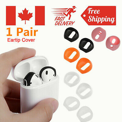 1 Pair Silicone Antislip Earphone Ear Tips Buds Cover For AirPods Apple-EarPods