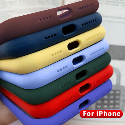 Luxury Thin Liquid Silicone Back Case Hybrid Rubber Cover For Smart Cellphones