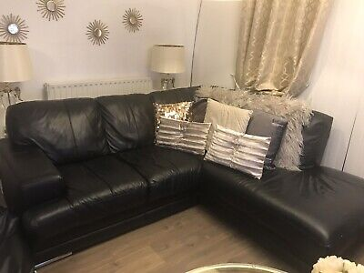 Awesome Dfs Grey And Black Corner Sofa 51 00 Picclick Uk Pdpeps Interior Chair Design Pdpepsorg