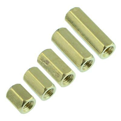 6mm to 15mm Hexagonal Female to Female Brass Spacer M3