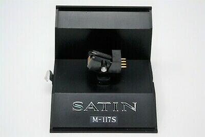 Satin M-117S Stereo Moving-Coil cartridge. Superb condition. Worldwide shipping.