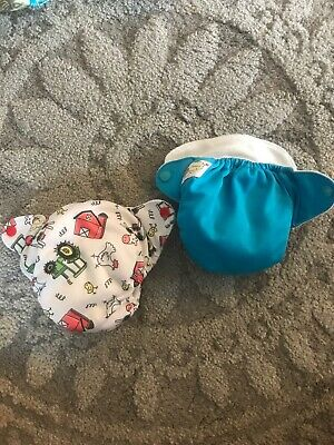 Lot Of 2 Happy Flute Cloth Diapers