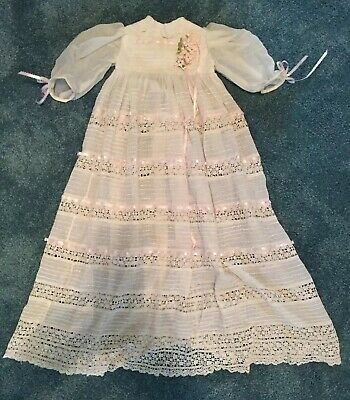 Antique Lacey Child/Doll Christening gown and Slip From Early 1900's