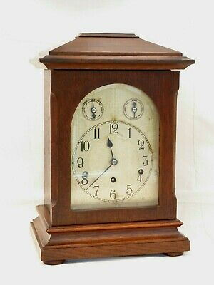 Kienzle German, 8 Day Large Westminster Chime Dark Oak Bracket Mantle Clock