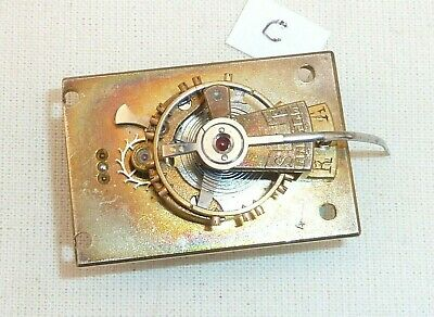 Old Silvered Clock Platform Escapement  34.5mm x 23.5mm