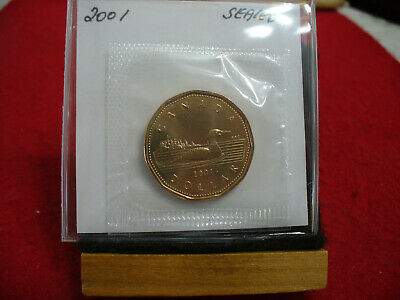 2001   Canada  Dollar  Coin  Loonie Top Grade  See Photos    Proof Like  Sealed