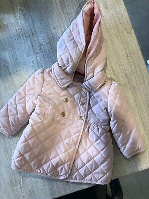Toddler Baby Girl Quilted Jacket Size 0