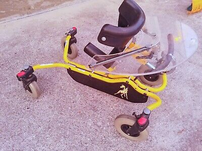 Pony gait trainer pediatric walker R82 size 0 special needs tray brake handlebar