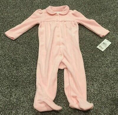 Ralph Lauren Baby Girls One Piece Velour Outfit: Size 6 Months