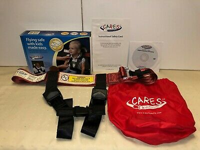 CARES Kids Fly Safe Airplane Safety Harness Seatbelt w/ Carry Bag - FAA Approved