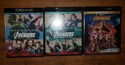 Marvel's The Avengers Age of Ultron Infinity War Bundle 4K Blu Ray Lot